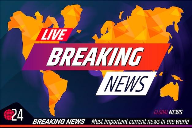 Modello di banner live ultime notizie