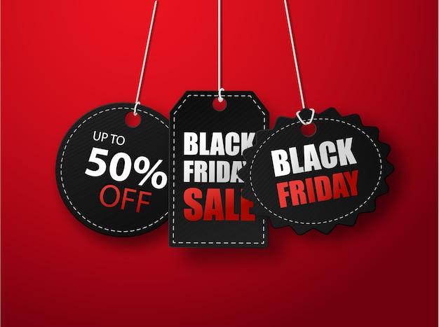 Modello di banner llustration vendita venerdì nero