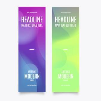 Modello di banner moderno verticale