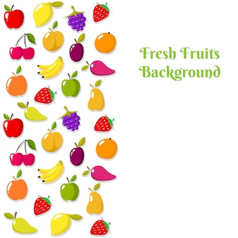 Modello di banner o flyer di frutta vettoriale