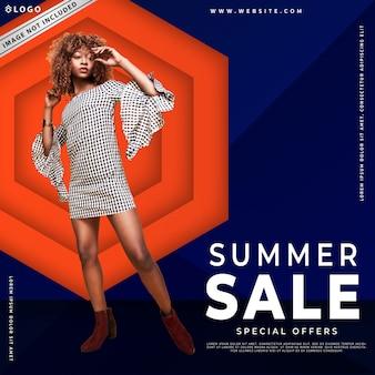 Modello di banner o post di vendita di moda moderna