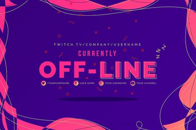 Modello di banner offline tic-tac-toe twitch