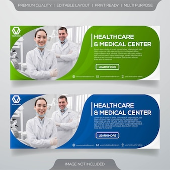 Modello di banner per cure odontoiatriche