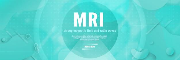 Modello di banner per la risonanza magnetica