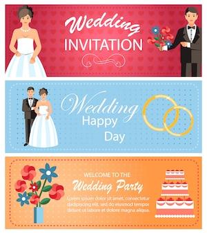 Modello di banner per servizi di organizzazione matrimoni