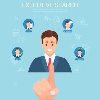 Modello di banner piatto executive vacancy