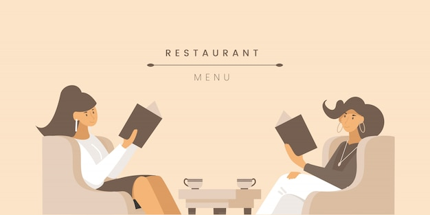 Modello di banner piatto menu ristorante.