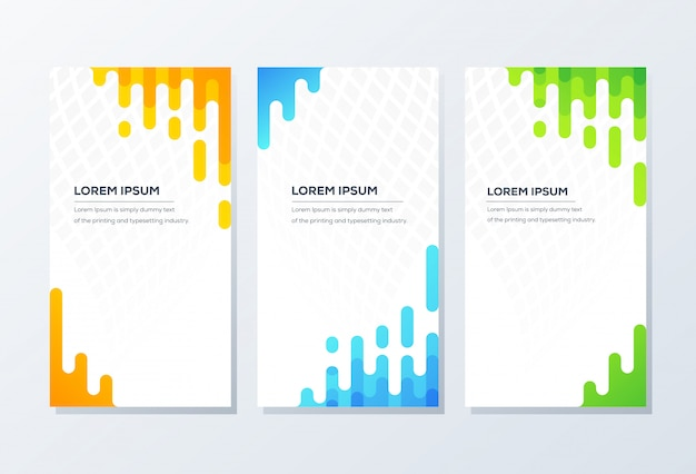 Modello di banner. presentazione e brochure