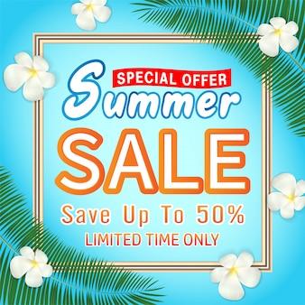 Modello di banner promozione offerta affare vendita estate speciale