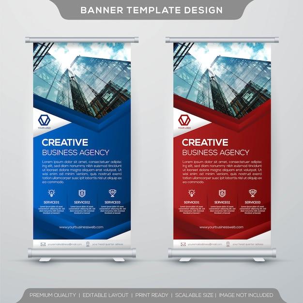 Modello di banner roll up aziendale