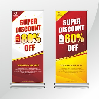 Modello di banner roll up moderno