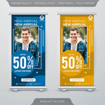 Modello di banner roll up