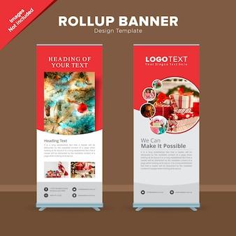 Modello di banner rollup del negozio di regali creativi