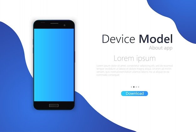 Modello di banner schermo vuoto smartphone