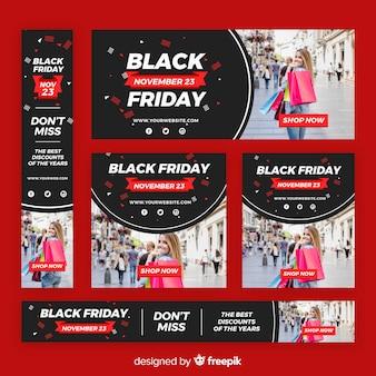 Modello di banner sito web venerdì nero