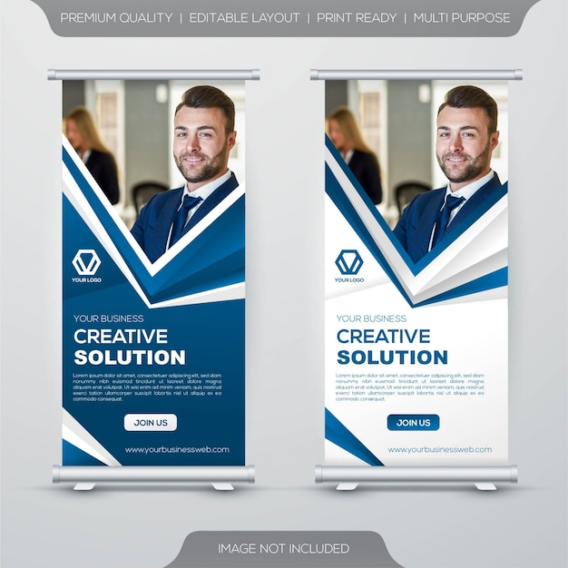 Modello di banner stand up roll