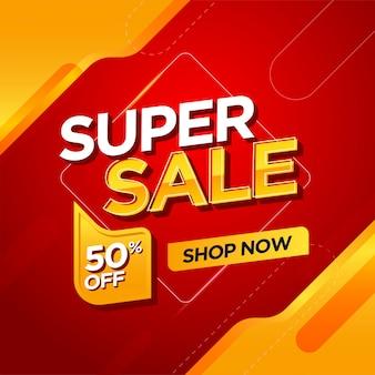 Modello di banner super vendita