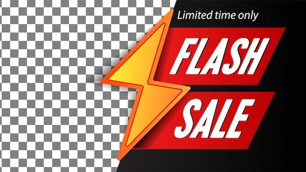 Modello di banner vendita flash