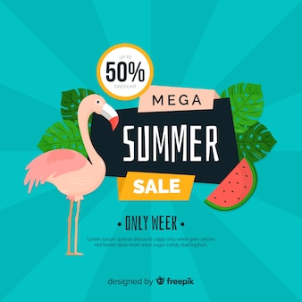 Modello di banner vendite estate piatta