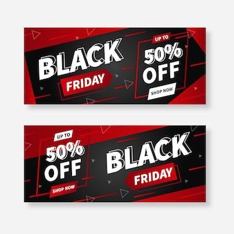 Modello di banner venerdì nero di super vendite
