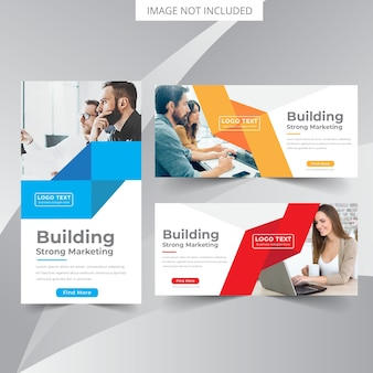 Modello di banner web aziendale