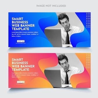 Modello di banner web aziendali