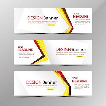 Modello di banner web bianco pulito moderno, banner di sconto vendita promozione
