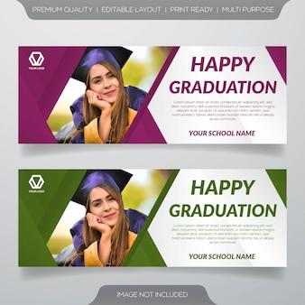 Modello di banner web di educazione
