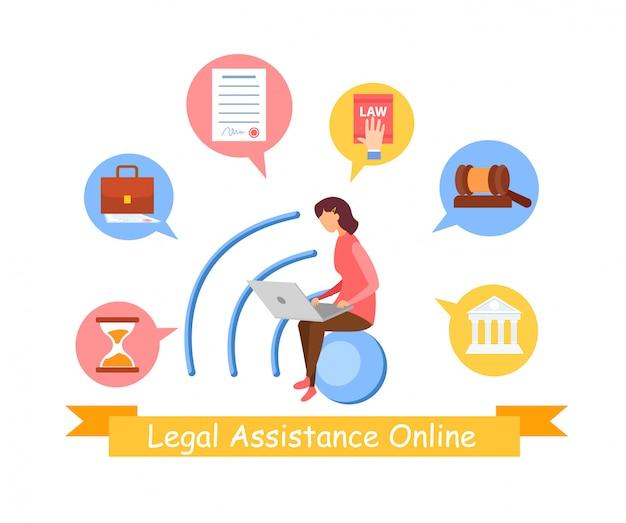Modello di banner web servizio di diritto sociale