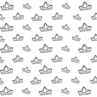 Modello di barca di carta