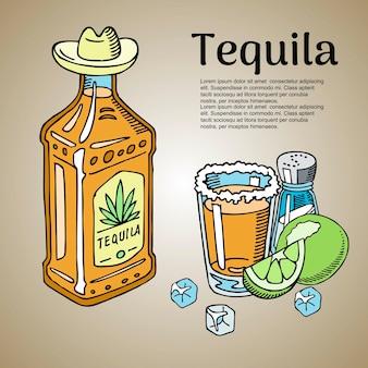 Modello di barra di tequila