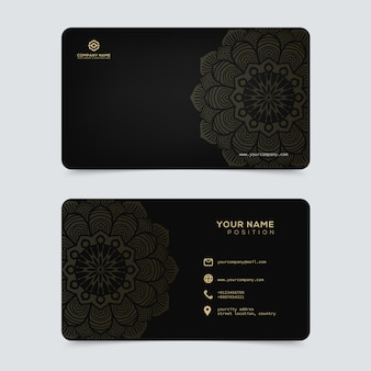 Modello di biglietti da visita in oro di lusso ed elegante