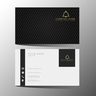 Modello di biglietti da visita in oro nero di lusso ed elegante