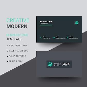 Modello di biglietto da visita aziendale creativo