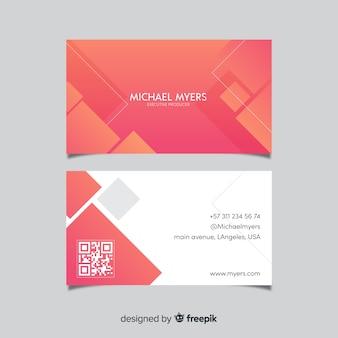 Modello di biglietto da visita aziendale, design anteriore e posteriore
