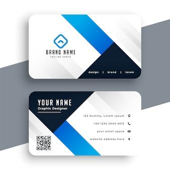 Modello di biglietto da visita blu aziendale moderna