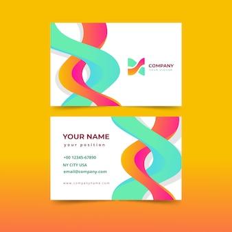 Modello di biglietto da visita colorato astratto moderno
