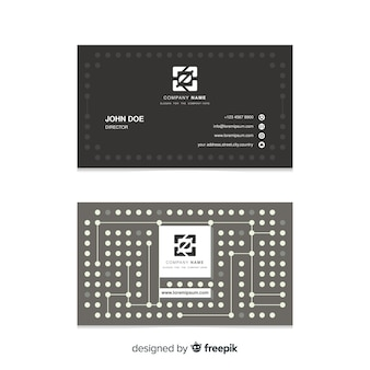 Modello di biglietto da visita con forme astratte