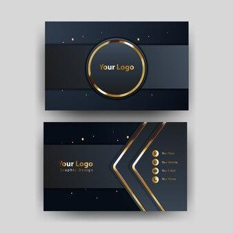Modello di biglietto da visita con il concetto di oro