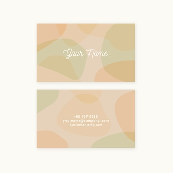 Modello di biglietto da visita con macchie di colore pastello