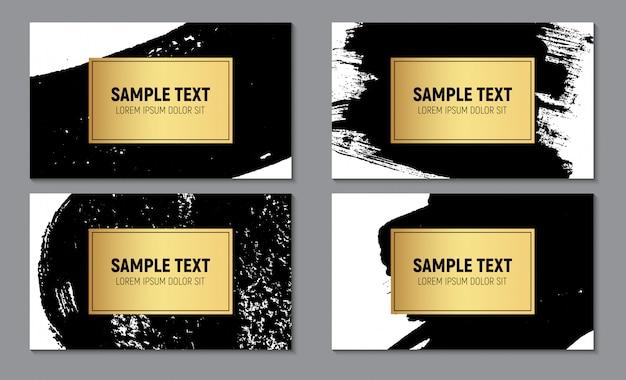 Modello di biglietto da visita con texture scintillante di vernice astratta