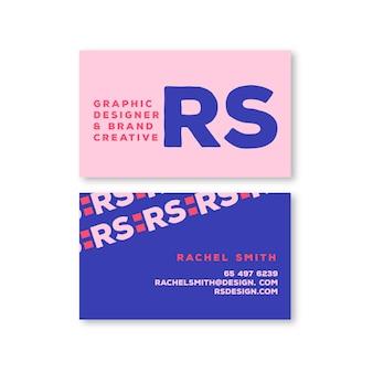 Modello di biglietto da visita creativo di marca