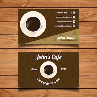 Modello di biglietto da visita del caffè
