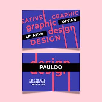 Modello di biglietto da visita di design creativo