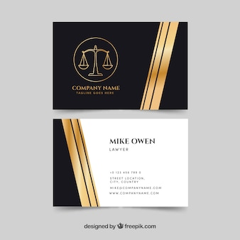 Modello di biglietto da visita di diritto e giustizia