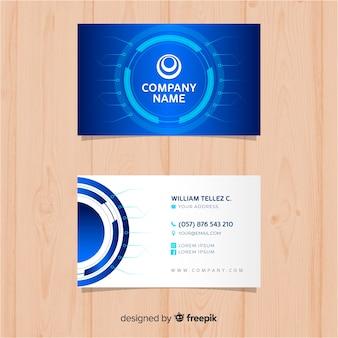Modello di biglietto da visita di tecnologia