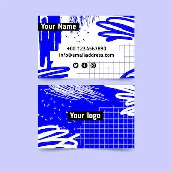 Modello di biglietto da visita dipinto a mano