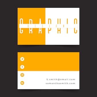 Modello di biglietto da visita divertente graphic designer