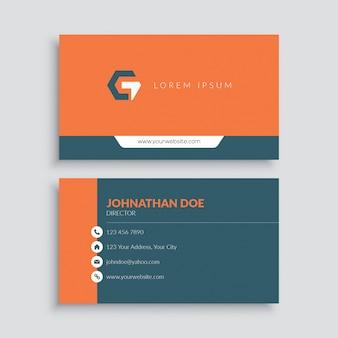 Modello di biglietto da visita elegante arancione
