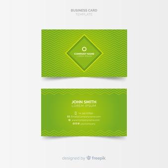 Modello di biglietto da visita elegante con disegno geometrico